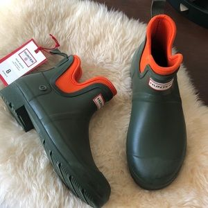 Hunter x Target Olive Ankle Rain Booties